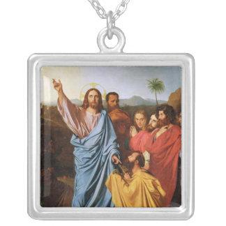 Jesus som går nycklarna tillbaka till St Peter, 18 Silverpläterat Halsband