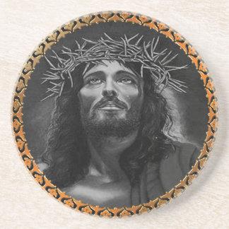 Jesus tittar i himmlarna underlägg sandsten