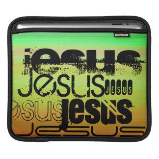 Jesus; Vibrerande grönt, orange & gult Sleeve För iPads