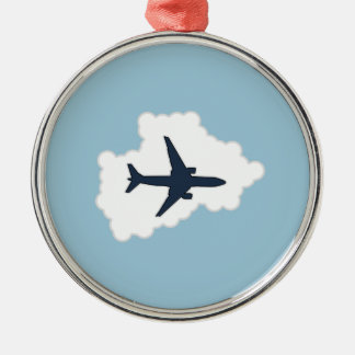 Jet i ett moln julgransprydnad metall