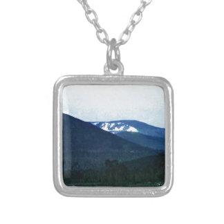 jGibne för Skottland Cairngorm bergkonst Halsband Med Fyrkantigt Hängsmycke