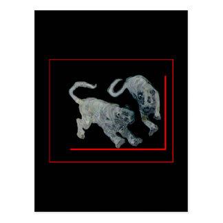 jGibney för Boarder för tigrar för spöke för Xian Vykort