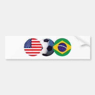 jGibney för fotbollboll Brasilien & USA Bildekal