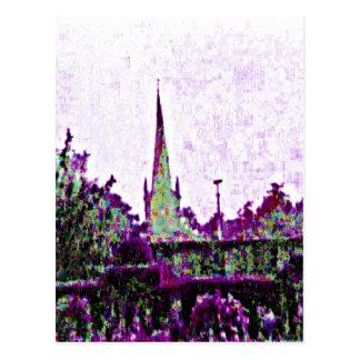 jGibney för Stratford-på-Avon England lilaträdgård Vykort