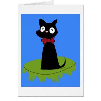 Jiji svart katt (Ghibli) Hälsningskort