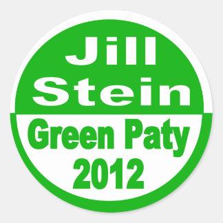 Jill Stein för den presidentMiljöpartiet 2012 Runt Klistermärke