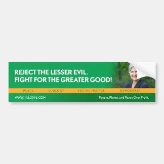 Jill Stein för president-/Miljöpartietbildekal Bildekal