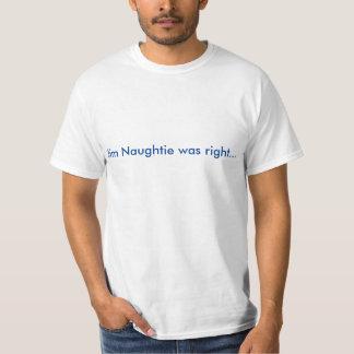 Jim Naughtie var höger…, … var inte en Jeremy Tee Shirt
