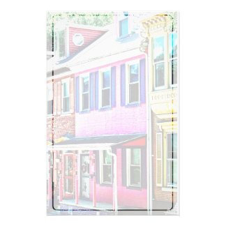 Jim Thorpe Pa - färgrik gata Brevpapper