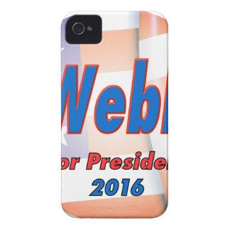 Jim Webb för president i 2016 Case-Mate iPhone 4 Fodral