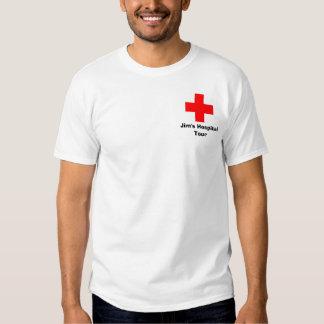 Jims sjukhus turnerar, tee shirts