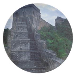 Jinshanlingen delar upp av väggen byggdes tallrik