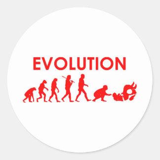 Jiu Jitsu evolution Runt Klistermärke