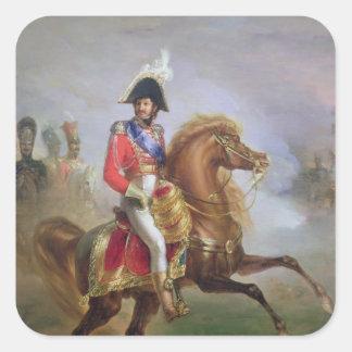 Joachim Murat på hästryggen, 1814-15 Fyrkantigt Klistermärke