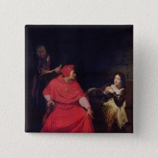 Joan av bågen och kardinalen av Winchester Standard Kanpp Fyrkantig 5.1 Cm