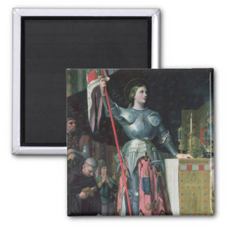 Joan av bågen på coronationen av kungen Charles Magnet