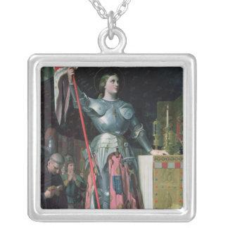 Joan av bågen på coronationen av kungen Charles Silverpläterat Halsband