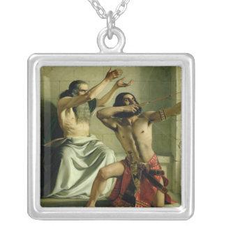 Joash som skjuter pilen av befrielse, 1844 silverpläterat halsband