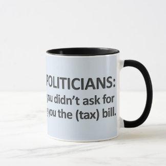 Jobb av politikar mugg