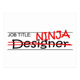 Jobbtitel Ninja - formgivare Vykort