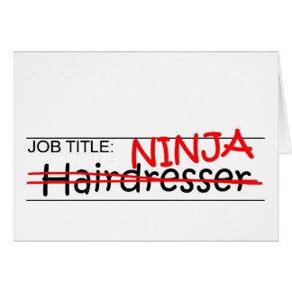 Jobbtitel Ninja - frisör Hälsningskort