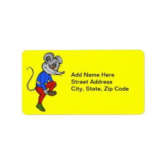 Jogga musen adressetikett