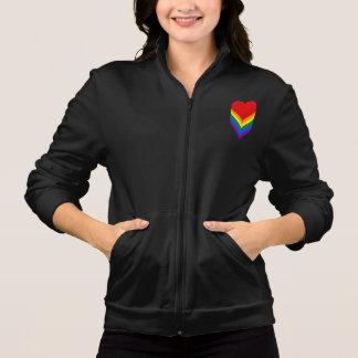 Joggare för vinande för LGBT-pridehjärtor Tryck På Jacka