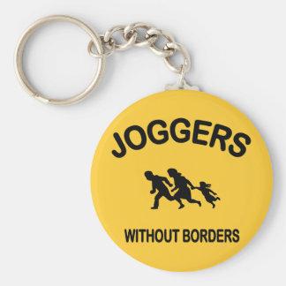 Joggare utan gränser rund nyckelring