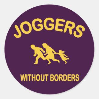 Joggare utan gränser runt klistermärke