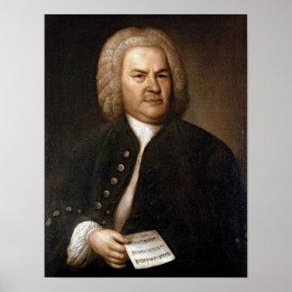 Johann Sebastian Bach porträtt Poster