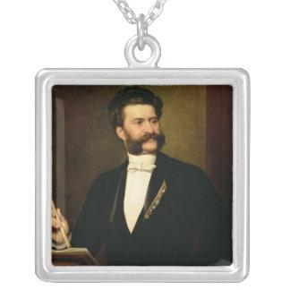 Johann Strauss, det mer ung, 1888 Silverpläterat Halsband