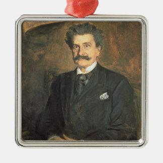 Johann Strauss, det mer ung, 1895 Julgransprydnad Metall