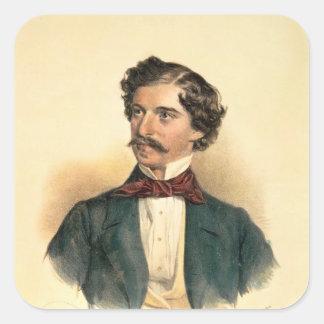 Johann Strauss fläderen Fyrkantigt Klistermärke