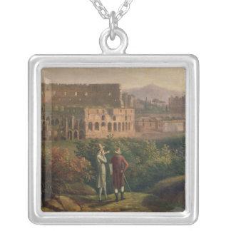 Johann Wolfgang Von Goethe besöka Silverpläterat Halsband