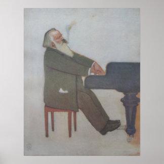Johannes Brahms Poster