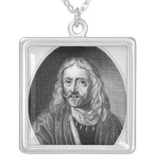 Johannes Hevelius som inristas av J. Bagare Silverpläterat Halsband