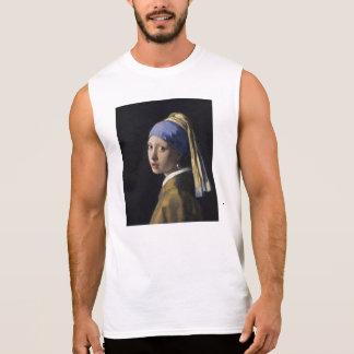 Johannes Vermeer - flicka med ett pärlemorfärg Sleeveless T-shirt