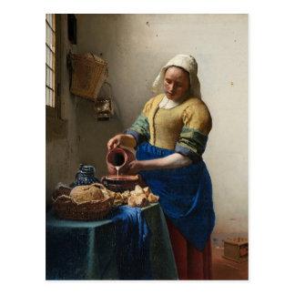 Johannes Vermeer - Milkmaidvykortet Vykort