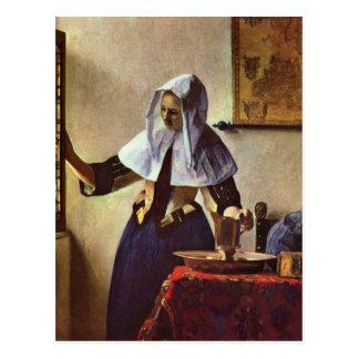 Johannes Vermeer - ung kvinna med en Vykort