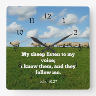 John 10:27 min får fyrkantig klocka