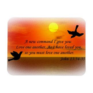 John 13:34 - 35 älskar en en annan magnet