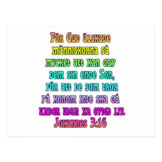 John 3:16svensk vykort