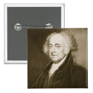 John Adams 2nd president av Förenta staterna av Standard Kanpp Fyrkantig 5.1 Cm