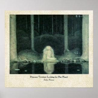John Bauer Princess Tuvstarr som söker efter henne Poster