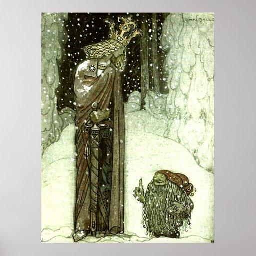 John Bauer princessen och troll Posters