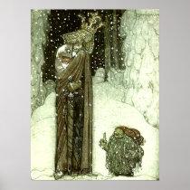 John Bauer princessen och troll Poster
