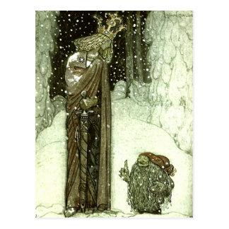 John Bauer princessen och troll Vykort