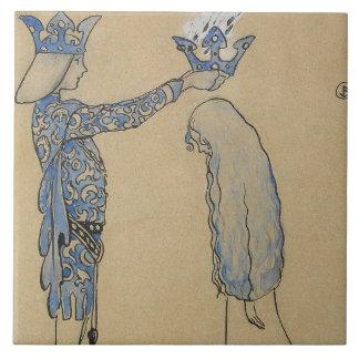 John Bauer - sätt därefter princen en krona av Kakelplatta