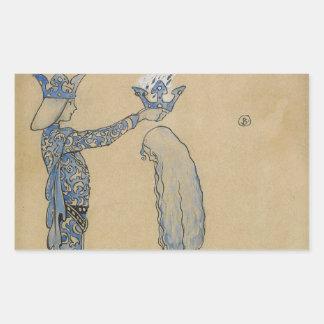 John Bauer - sätt därefter princen en krona av Rektangulärt Klistermärke