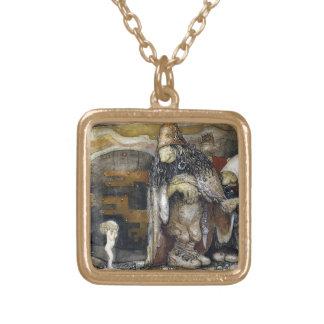 John Bauer troll Guldpläterat Halsband